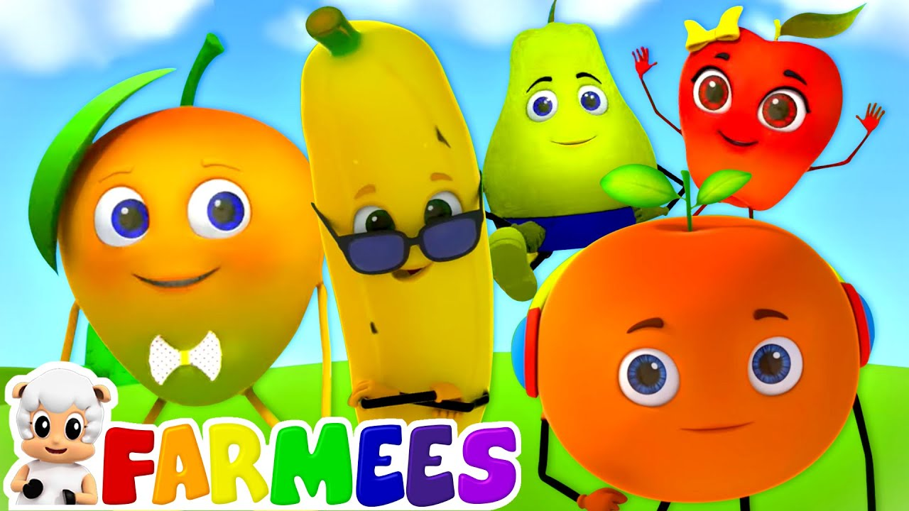 Five Little Fruits | Fruits Song for Kids | Nursery Rhymes & Baby Song | Children's Music | Farmees