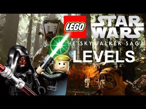 Lego Star Wars The Skywalker Saga All Levels Gameplay Details Youtube