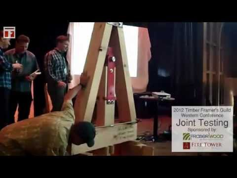 timber-frame-joint-testing-session---2012-timber-framers-guild-western-conference