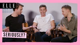 'BEST INTERVIEW EVER!' | Mamma Mia 2 cast | Jeremy Irvine, Hugh Skinner, Alexa Davies