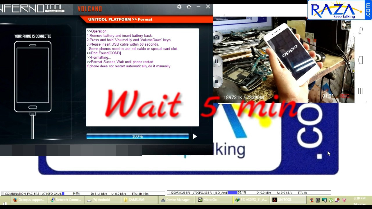 OPPO A37 Pattern Reset Volcao Inferno Tool and See FRP