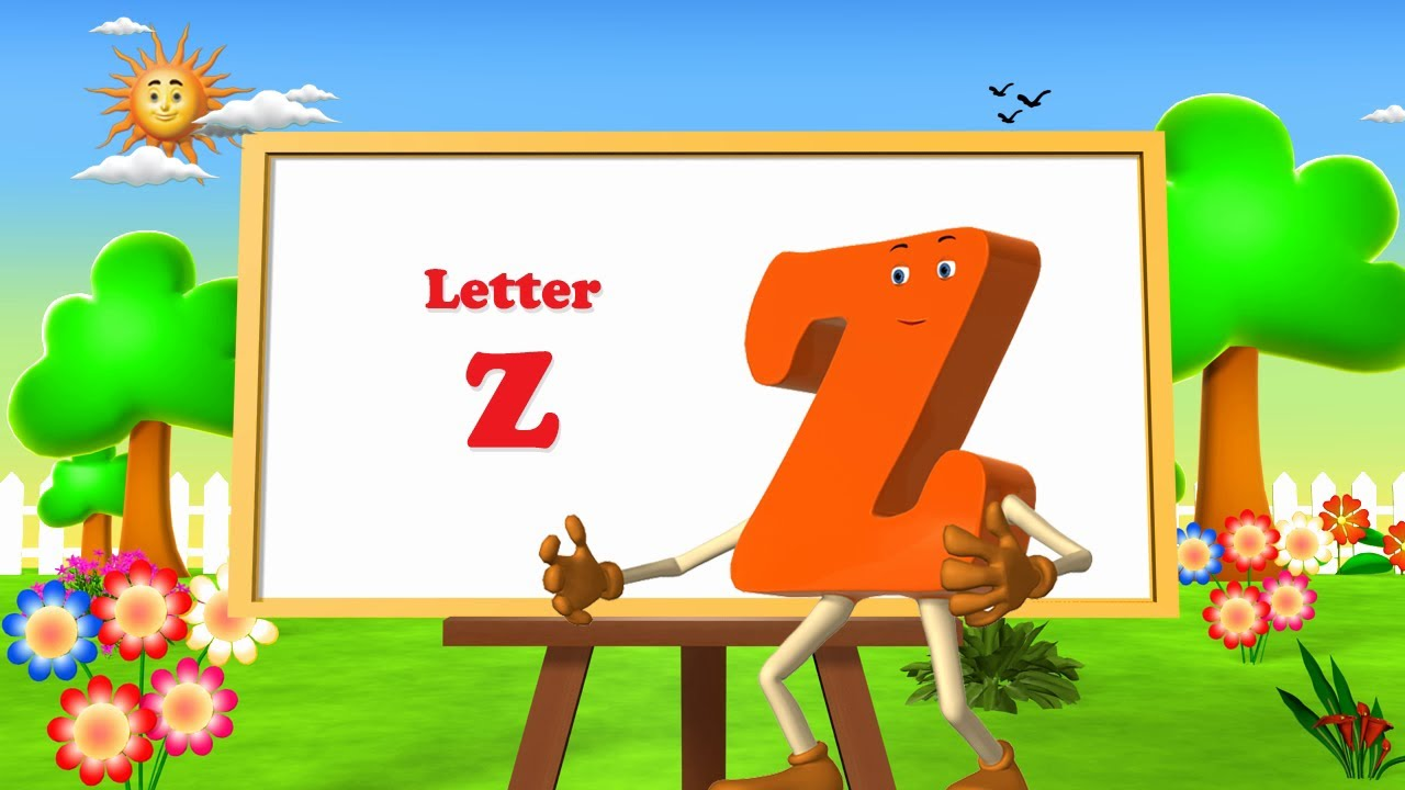Letter Z Song -3D Animation Learning English Alphabet ABC Songs for ...