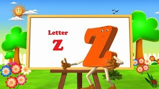 Letter Z Song -3D Animation  Learning English Alphabet ABC Songs for Children thumbnail