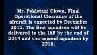 Pakistani Clown commented again for JF-17 Thunder (Jogaad Fighter-17).flv