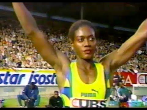 Merlene Ottey vs. Gwen Torrence \u0026 Gail Devers - Women's 100m - 1996 Zurich Grand Prix indir