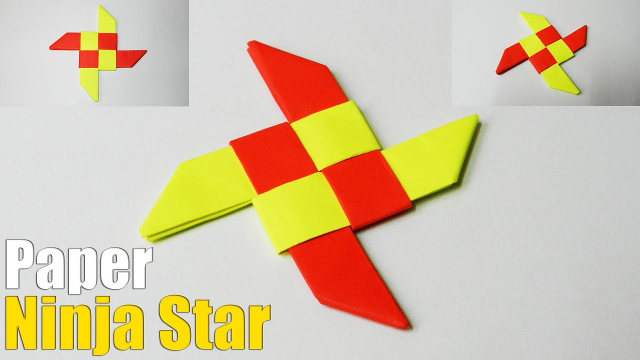 How to make an origami ninja star easy tutorial youtube for How to make a star with paper step by step
