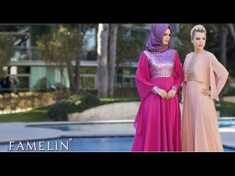 630fb6ef9b307 Famelin 2015 Tesettür Abiye Takım Elbise Tunik Modelleri - YouTube