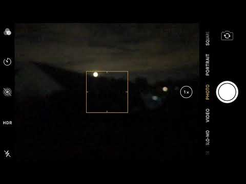 [iOS] Apple iPhone 7 Plus Camera - Screen Recorder - Full Moon in London night sky (UK)