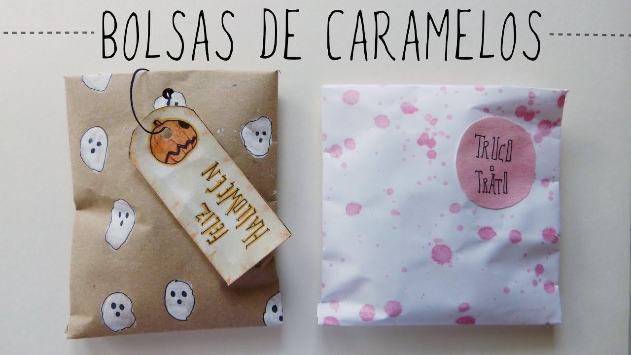 37bda4ad7 Cómo hacer bolsas de dulces (Manualidades fáciles para Halloween ...