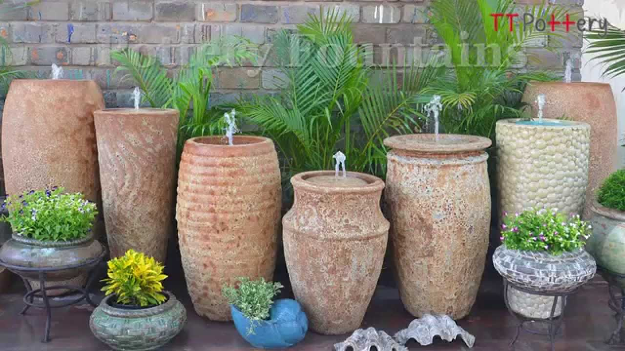 Great Vietnamese Ceramic Self Contained Fountains With Removable Tops, No Base,  No Installation Required   YouTube