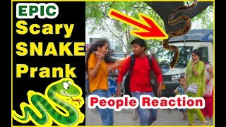 BEST SNAKE PRANK ON GIRLS | EPIC REACTION | PRANK IN INDIA | SCARY PRANK IN INDIA | GREEDY GENIUS