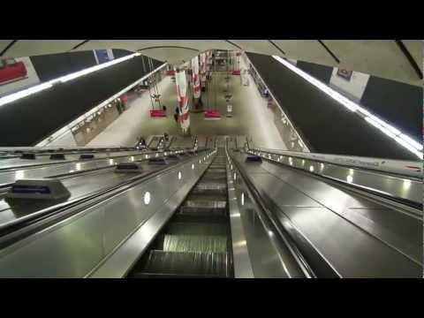 Canary Wharf Tube Station At Night