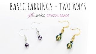 Learn to make simple earrings - the right way!