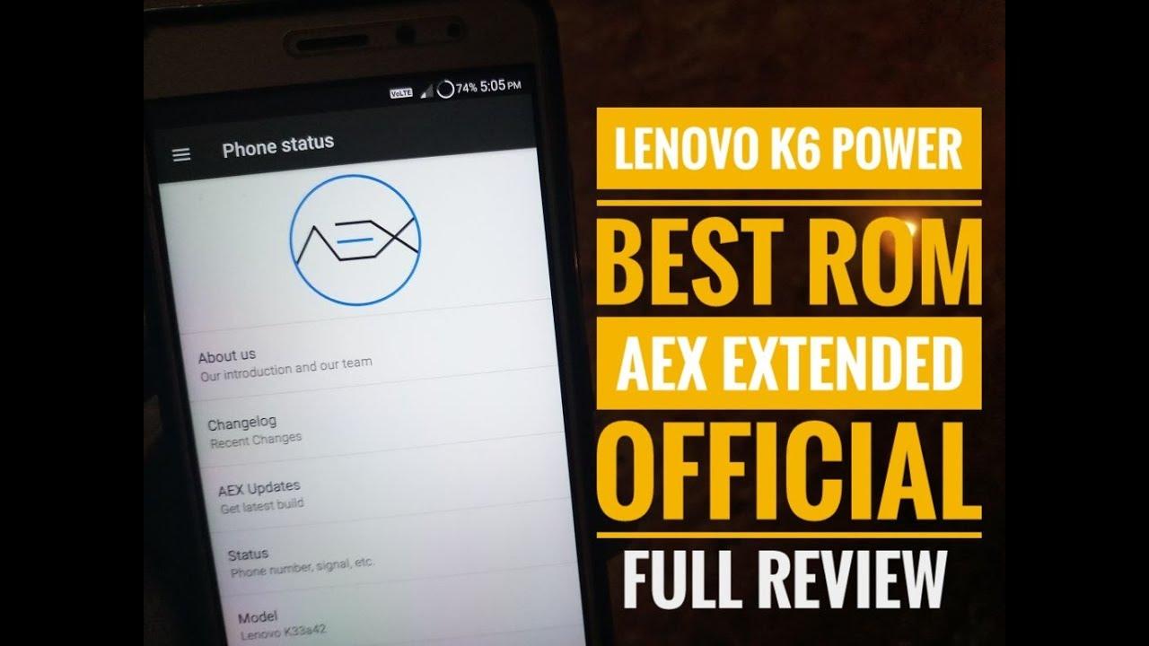 LENOVO K6 POWER AOSP ROM OFFICIAL    DSLR EFFECT    SUPER
