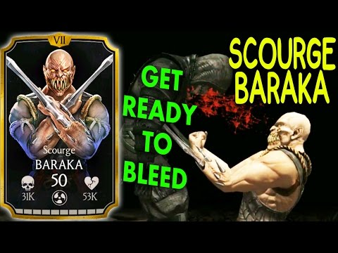 MKX Mobile 1.13 Update. SCOURGE BARAKA Gameplay + Review! NOT IMPRESSED…