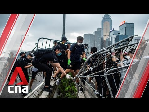 Hong Kong protesters block major roads to protest extradition bill