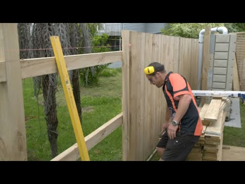 How to Build a Fence   Mitre 10 Easy As DIY