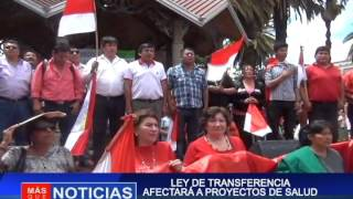 LEY DE TRANSFERENCIA AFECTARA A PROYECTOS DE SALUD