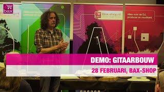 Demo gitaarbouw, onderhoud en reparatie door Sjak Zwier