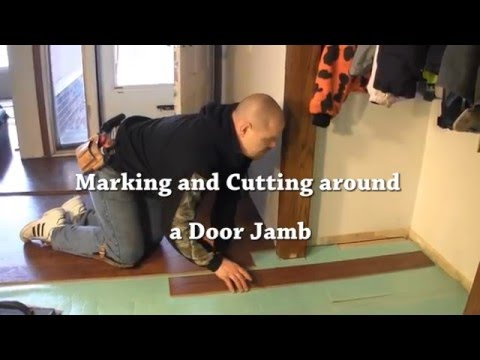 Laminate Installation Cutting Laminate Flooring Around A Doorjamb