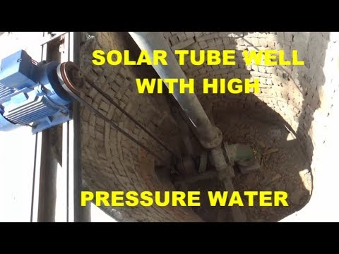 Solar System Tube well motor 20 HP Solar 250 watt Water Deep 20 Feet inverter 18 Kw