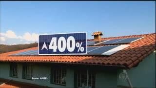 Energia solar cativa brasileiros e cresce 400%