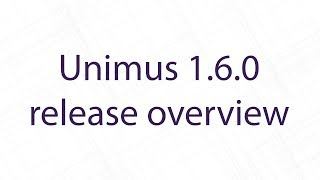 Unimus 1.6.0 release overview
