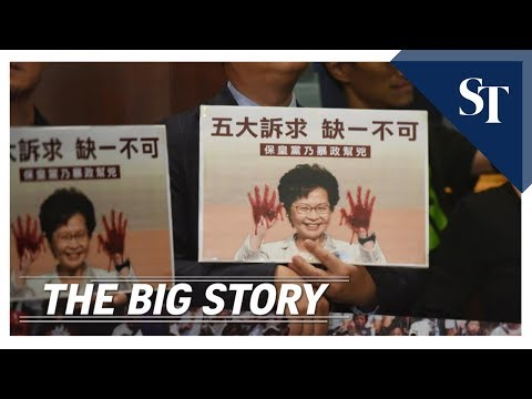 the-big-story:-carrie-lam-heckled-while-giving-annual-policy-address- -the-straits-times