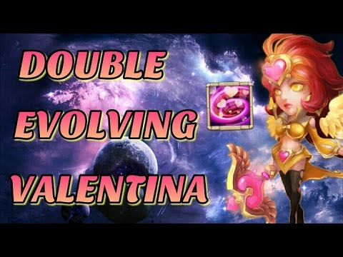 Castle Clash Double Evolving Valentina!