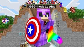 Minecraft Manhunt But I Downloaded 3000 Mods..