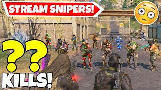 YANRIQUE \u0026 BOBBY VS 98 STREAM SNIPERS IN CALL OF DUTY MOBILE BATTLE ROYALE!