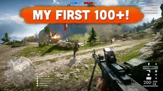 MY FIRST 100+ KILL GAME! - Battlefield 1 | Road to Max Rank #27 (Multiplayer Gameplay)