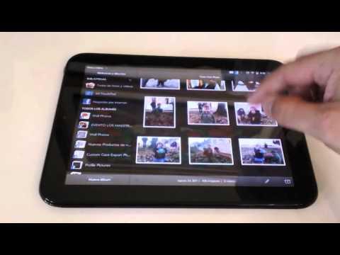 Análisis de la tableta HP TouchPad en Español-aplicaciones y navegación