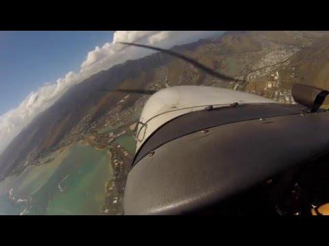 A Lap Around Oahu - My First Flight Cessna 172 SP Skyhawk 4K