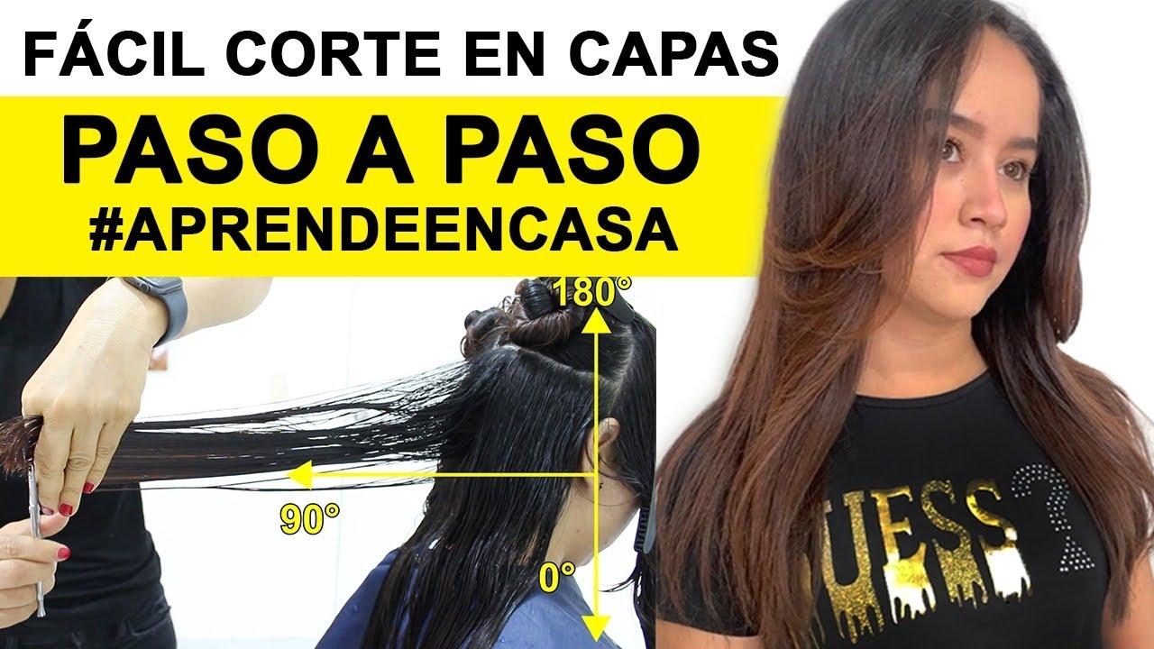 FACIL CORTE EN CAPAS CON TEXTURA.PASO A PASO #APRENDEENCASA