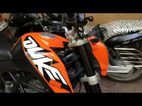CLEANING AND LUBRICATION OF CHAIN | KTM DUKE 390 | KTM SERVICE CENTRE