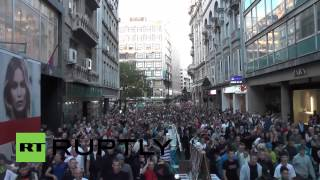 Serbia: Thousands of anti-gay protesters flood Belgrade streets
