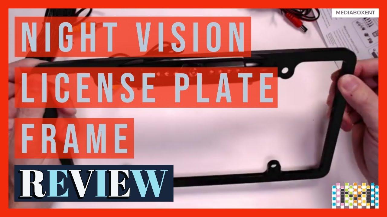 Car Rear View Backup Camera 8 IR Night Vision US License Plate Frame CMOS Cam UT
