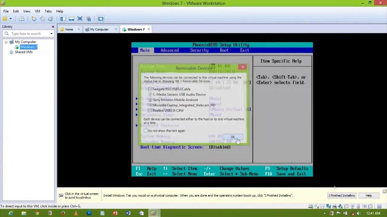 Enable & Access BIOS in Vmware Workstation