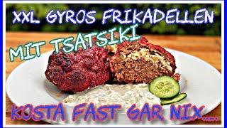 XXL Gyros Frikadellen mit Tsatsiki