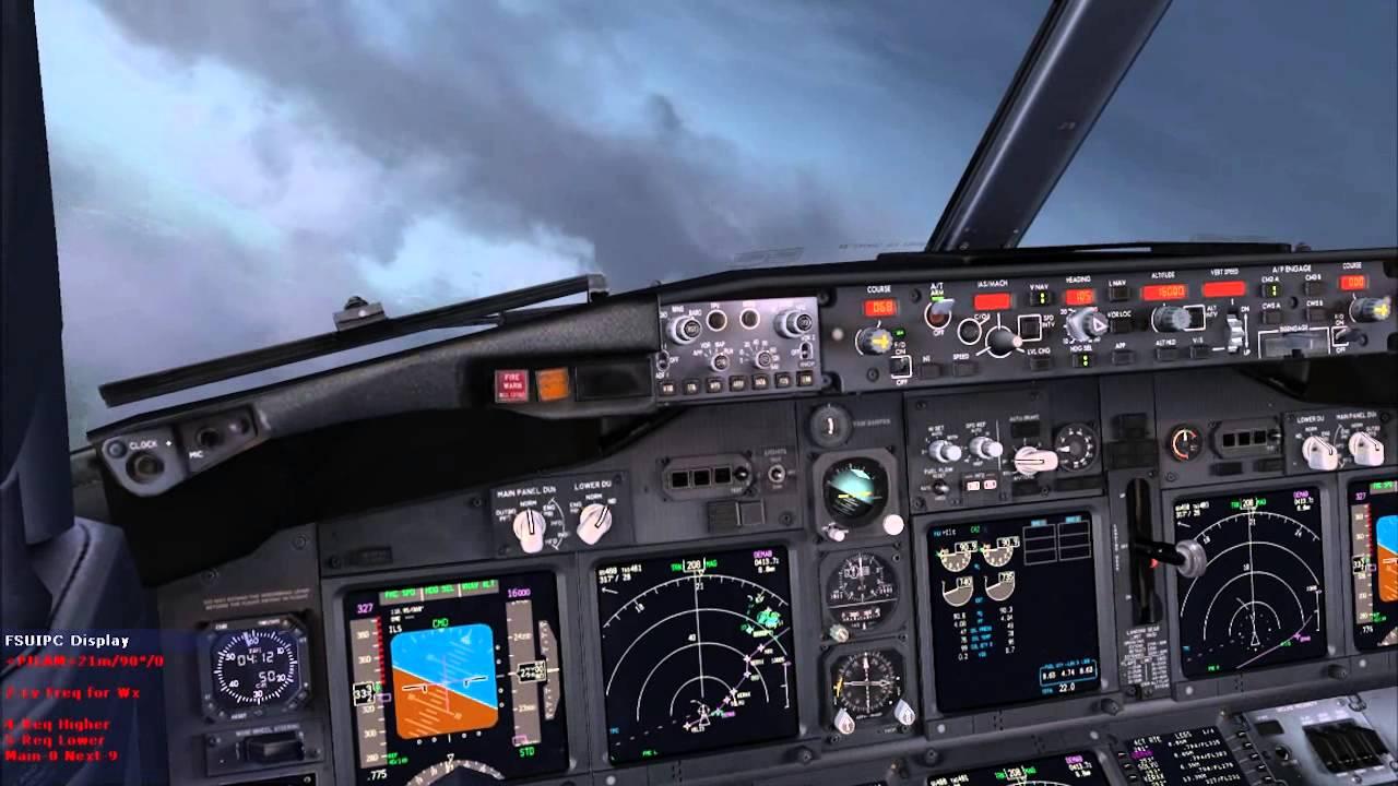 PMDG Boeng 737 NGX EPKT-EDDF With Radar Contact 4