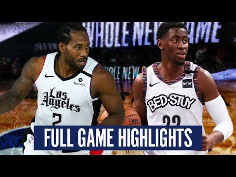 BROOKLYN NETS at LA CLIPPERS - FULL GAME HIGHLIGHTS | 2019-20 NBA SEASON