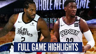 BROOKLYN NETS at LA CLIPPERS - FULL GAME HIGHLIGHTS | 2019-20 NBA SEASON