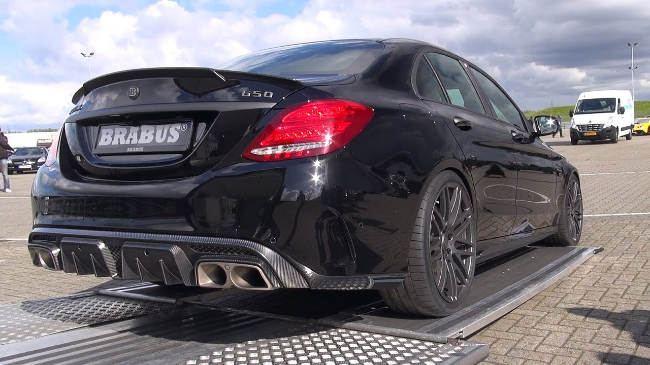 brabus 650 4 0 biturbo v8 c63 s amg start revs overview youtube. Black Bedroom Furniture Sets. Home Design Ideas