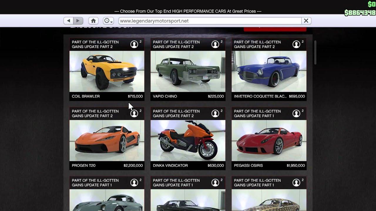GTA5 Showing Legendary Motorsports