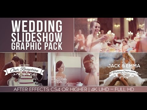 wedding slideshow graphic pack after effects template youtube. Black Bedroom Furniture Sets. Home Design Ideas