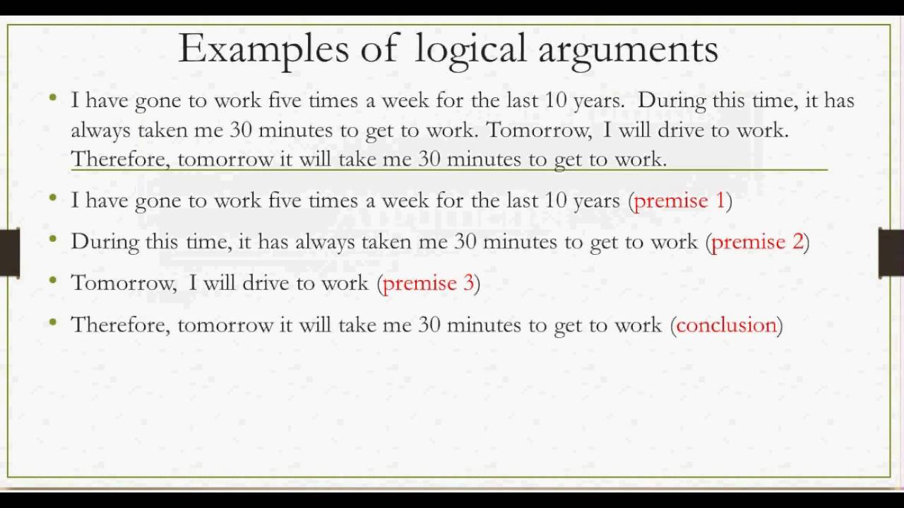 11 Arguments Premises And Conclusions Youtube