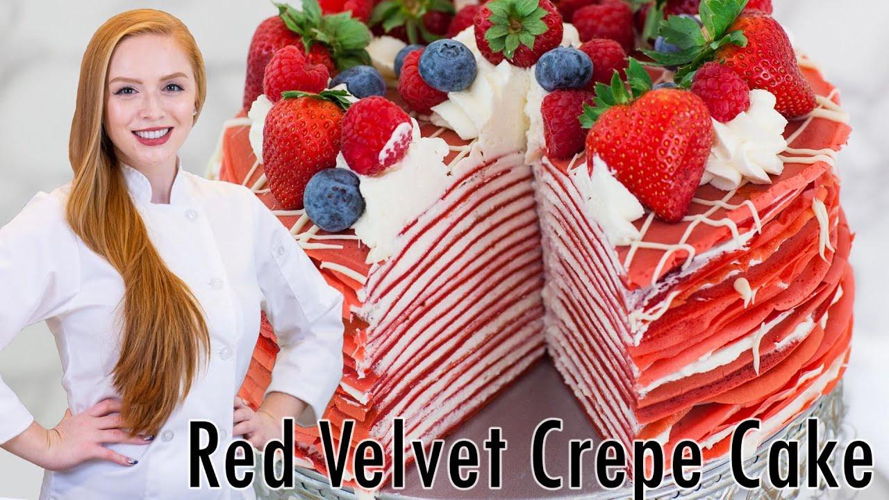 Epic Cakes Red Velvet Crepe Cake Youtube
