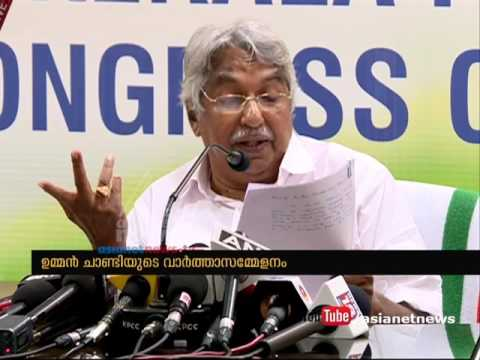 Press meet by Oommen Chandy on white paper 2016