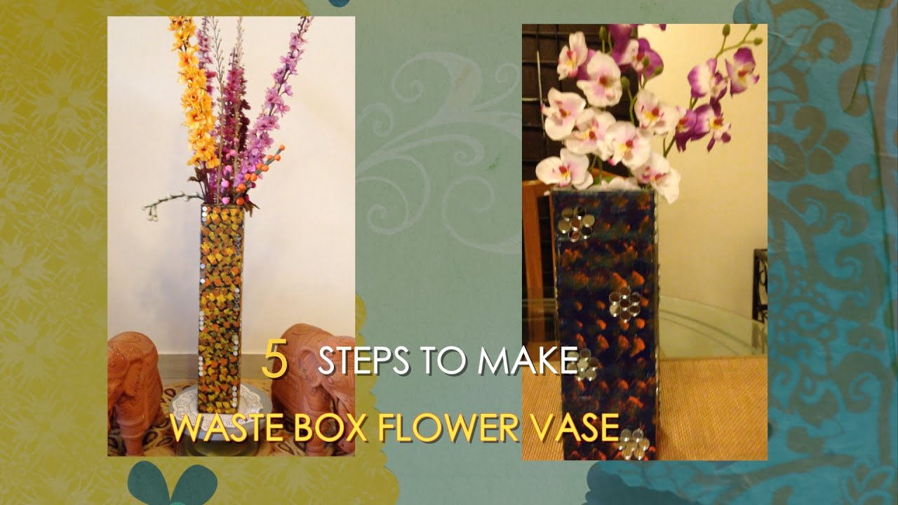 How to make waste box flower vase best from waste youtube reviewsmspy